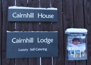 Cairnhill House and Lodge Name Plate