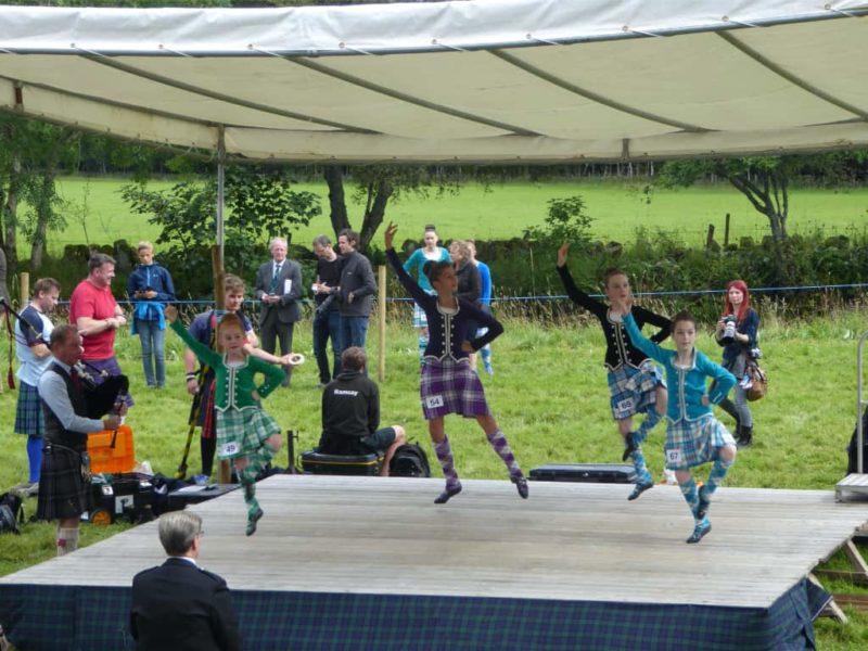 Dancing competitors at Glenisla Highland Games