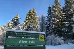 Glenisla forestry carpark - opposite Cairnhill Lodge