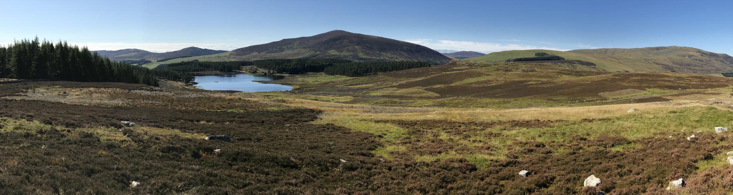 Loch Shandra and Mount Blair - Panorama