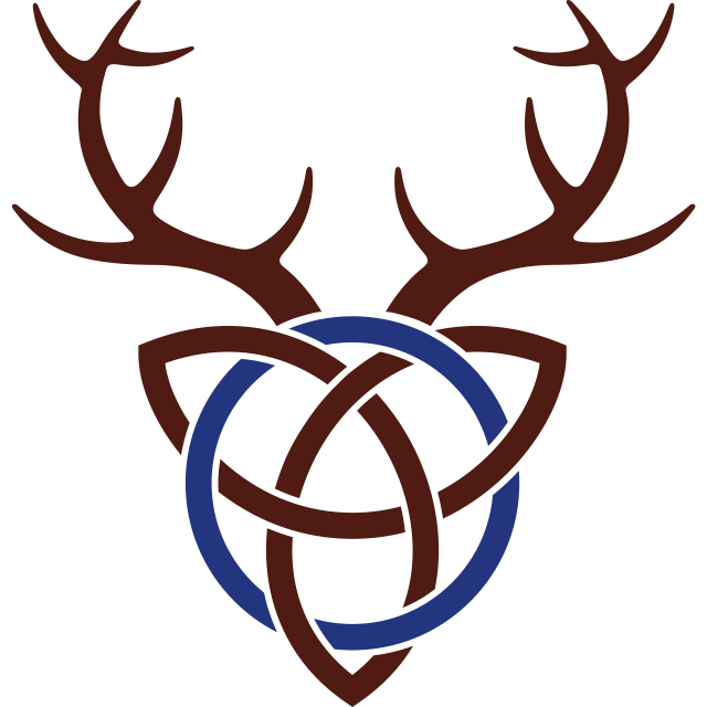 stag antlers celtic knot cairnhill lodge site identity logo