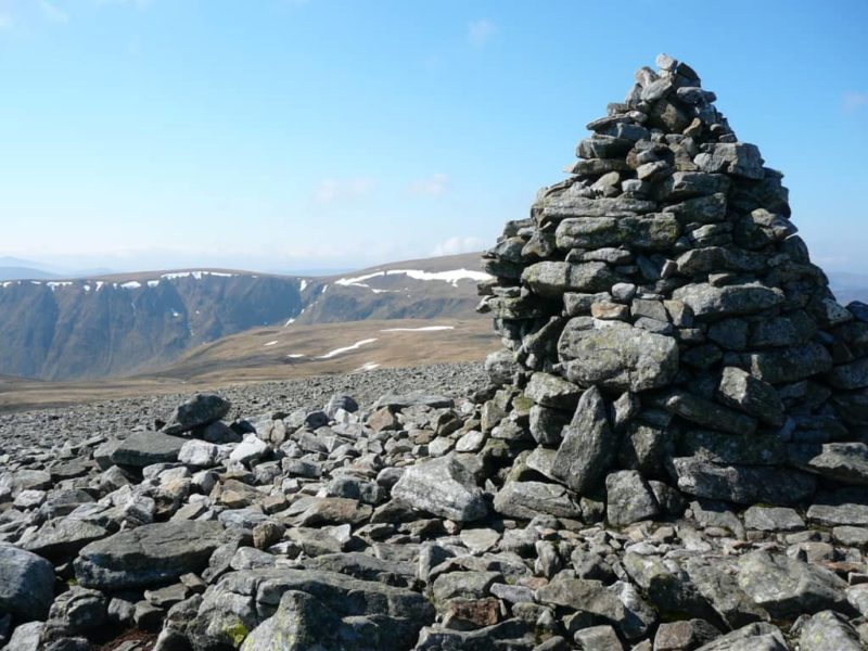 Looking south from Cairn of Claise towards Monega Hill