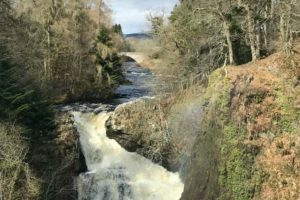 Reekie Linn waterfall on the River Isla