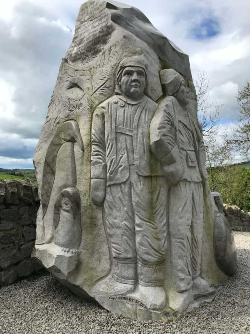 Scott's View monument located in Glen Prosen in the Angus Glens - dedicated to Captain Robert Scott and Dr Edward Wilson of Antarctic exploration fame