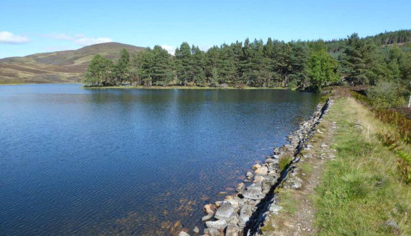 Simple dam on Auchintaple Loch