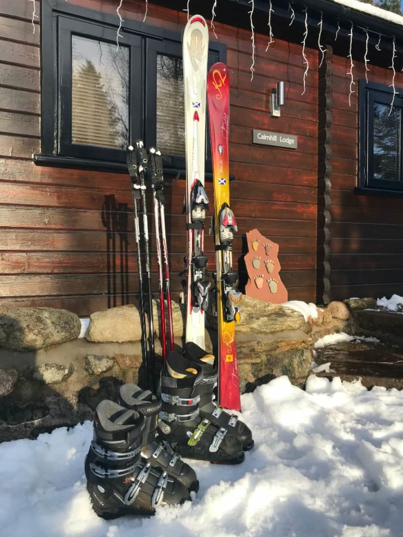 Snow on the doorstep and skis ready to go