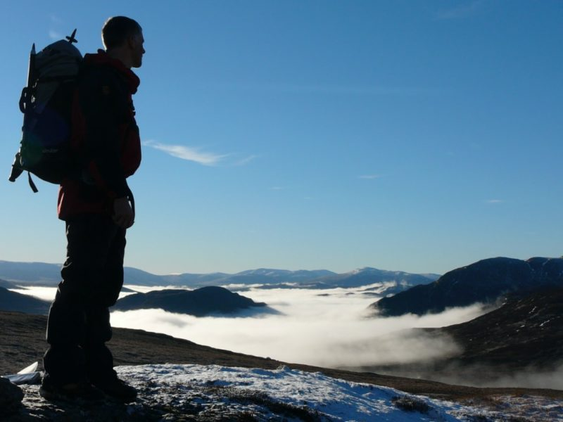 Temperature inversion seen from the high tops above Glenisla